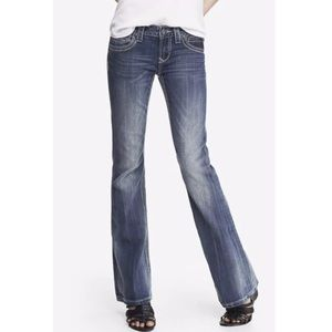 ReRock for EXPRESS Thick-Stitch Boot Jeans 6 LONG